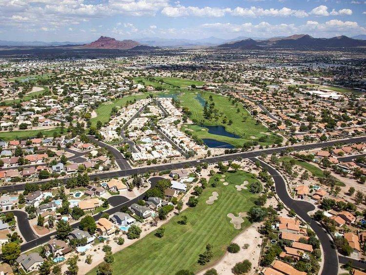 16. Mesa, Arizona, just east of Phoenix, has a population of 508,958.