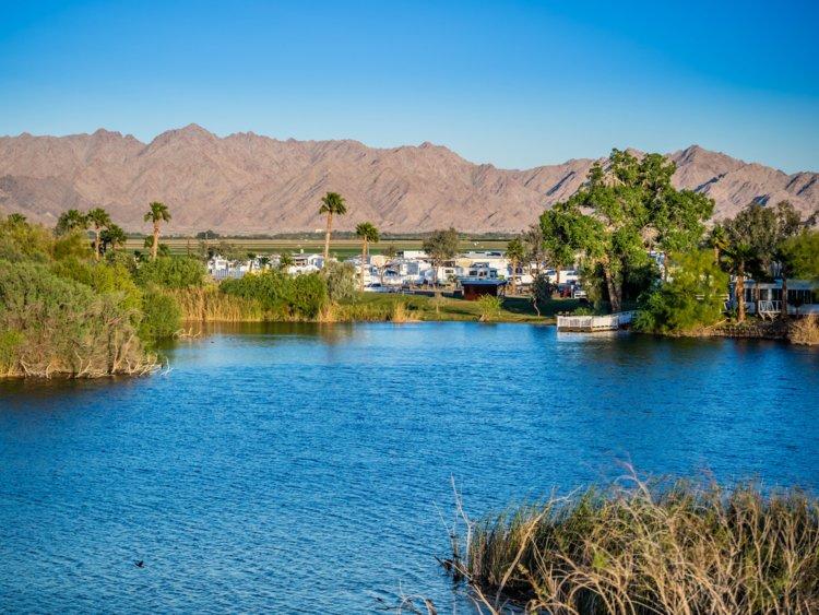 23. Yuma, Arizona, borders Arizona and Mexico and is three hours west of Tucson. Yuma County has a population of 212,128.